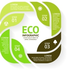 Circle arrows green eco infographics set vector