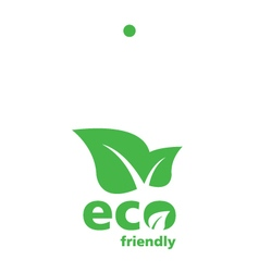 Green eco label tag vector