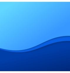 Abstract blue wave background with stripes vector image vector image