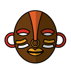 african mask ethnicity icon vector image vector image