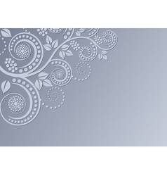 background with floral decoration vector image vector image