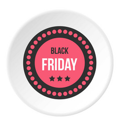 Black friday sale sticker icon circle vector