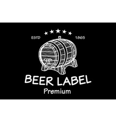 cask sketch Set of Vintage Logo Templates For Beer vector image vector image