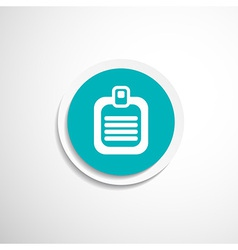 Check list icon Flat design list icon isolated vector image vector image