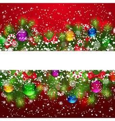 Christmas pine border vector