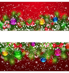 Christmas pine border vector image vector image