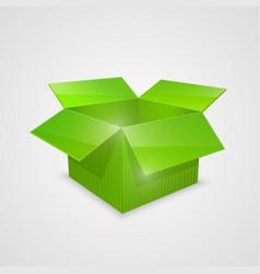 Color open box green vector
