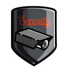 Color vintage security emblem vector image