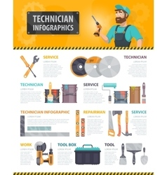 Colorful repair service infographics vector