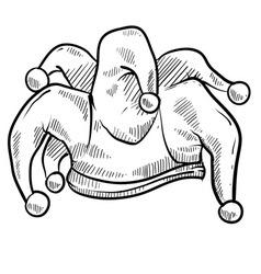 doodle jester cap vector image
