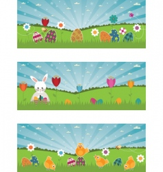 Easter banners vector image
