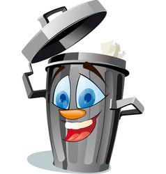 Funny wastebasket vector