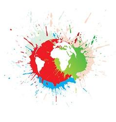 grunge globe vector image vector image