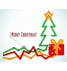 Infographic styled office Christmas card vector image