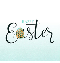 Luxury happy easter vector