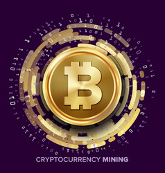Mining bitcoin cryptocurrency vector