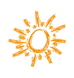 Orange sun abstract icon vector