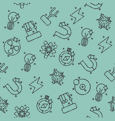 Physics icons pattern vector