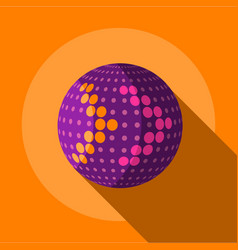 Purple planet icon flat style vector