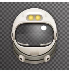 Realistic helmet 3d cosmonaut astronaut spaceman vector