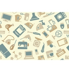 Seamless pattern of household appliances vector image vector image