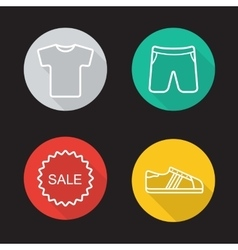 Sportwear flat linear icons set vector image vector image