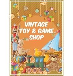 Toys shop poster vector
