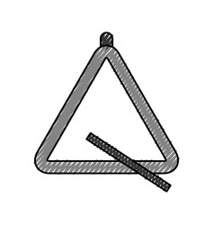 Triangle instrument musical icon vector