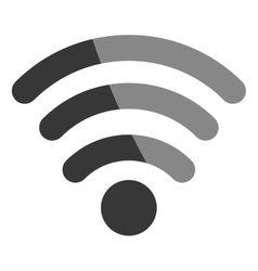 Wifi or wireless symbol isolated icon vector image vector image