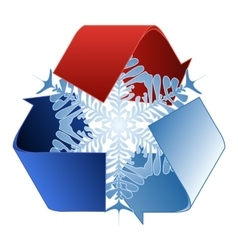 Save heat energy recycle symbol vector