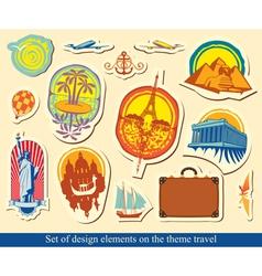 elements design travel vector image