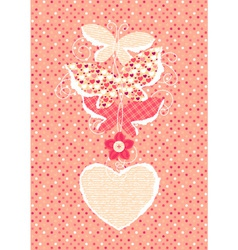 Valentine Day background with butterflies vector image