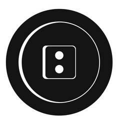dress round button icon simple style vector image