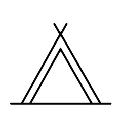 Tent outline icon vector