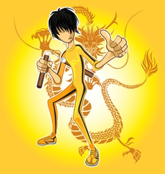 Kungfu Master vector image