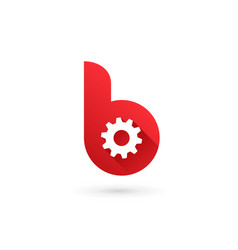 Letter b technology logo icon design template vector