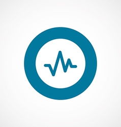Pulse bold blue border circle icon vector