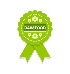 Raw food rosette vector