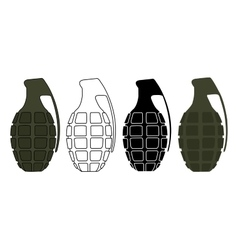 Grenades set color contour silhouette vector