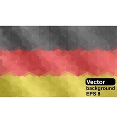 German flag of geometric shapes vector