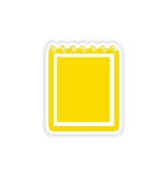 Icon sticker realistic design on paper notebook vector