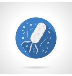 Bacteria structure blue round flat icon vector