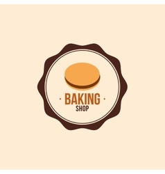 Delicious bakery label vector