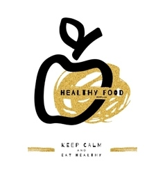 Artistic apple symbol healthy food concept vector