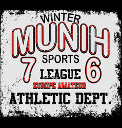 Athletic sport munih typography t-shirt graphics vector