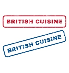 British cuisine rubber stamps vector