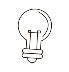 bulb light idea innovation outline icon vector image