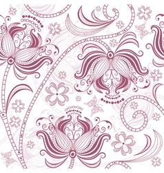 burgundy floral pattern vector image vector image