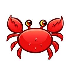 cartoon red crab vector image