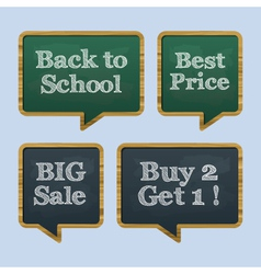 chalkboard back to school text sale vector image